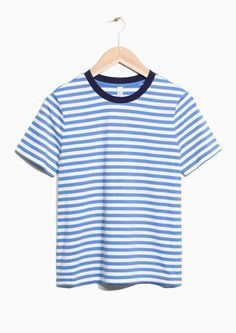 & Other Stories image 1 of Striped Top in Blue