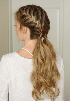 double braid casual hairstyles ideas #french #braid #hairstyles #beautiful