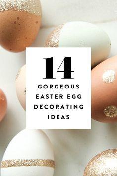 14 Simply Gorgeous Easter Egg Decorating Ideas via @PureWow