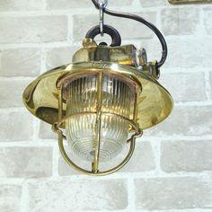 Vintage industrial light - Brass Explosion Proof Ceiling Pendant Edison Bulb  #Nautical