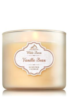 """Vanilla Bean - 3-Wick Candle - Bath & Body Works - The Perfect 3-Wick Candle! Made using the highest concentration of fragrance oils, an exclusive blend of vegetable wax and wicks that won't burn out, our candles melt consistently & evenly, radiating enough fragrance to fill an entire room. Burns approximately 25 - 45 hours and measures 4"""" wide x 3 1/2"""" tall."""