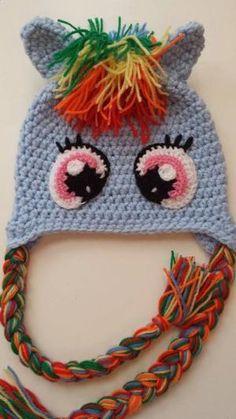 49a19c55f1b For Izzy My Little Pony Crochet Hat Rainbow Dash Handmade by  LaMeliaCrochet