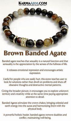 Mens Bracelets. Meditation Jewelry. Beaded Bracelets. #MensJewelry #BoHo #BoHoBracelets #WomensJewelry #BeadedBracelets #Bracelets #Gifts #Meditation #Yoga #YogaBracelets #Reiki #Wisdom #MensBracelets #BoHoJewelry #BeadedBracelets #YogaJewelry #Brown #Banded #Agate