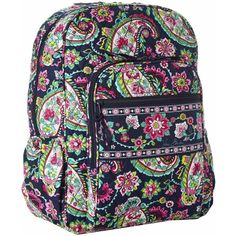 85f1801526 Amazon.com  Vera Bradley Campus Backpack (Petal Paisley)  Clothing ( 90