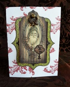 Santa Claus Steampunk Christmas Card , a one of a kind design by TheNavigatrix