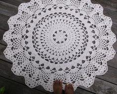 Off White Cotton Crochet Doily Rug in 1.2M 120CM 47.24 Circle Lacy Pattern. A large portion of my customers are from Australia so I am trying to