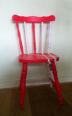 painted chair;; maybe not these colors but like the concept