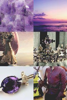 Narnia characters + precious metals and stones aesthetic | Caspian: amethyst