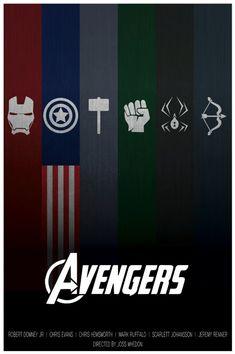The Avengers Minimalist Poster   Etsy