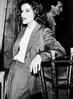 Katharine Hepburn on the set of Stage Door