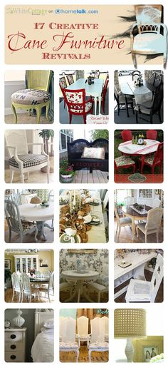 Home Decor: 17 Creative Cane Furniture Revivals | curated by WhiteCottageBoutique.com