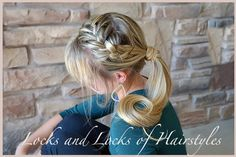 French Braided Swept Ponytail