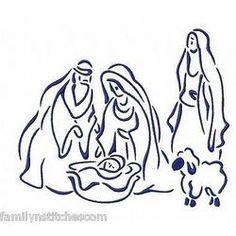 Outline Christmas Nativity...