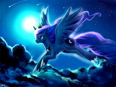 Don't give into the darkness! Guys, I think I've become a Brony. :l I am sorry but I love Luna! Forgive me, Sister. Gumball, Celestia And Luna, Nightmare Moon, Mlp Fan Art, The Last Unicorn, My Little Pony Drawing, Little Poney, My Little Pony Pictures, Unicorn Art