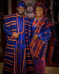"""0000 In Yorubaland, Iro(wrapper) and Buba(top) is a bridal attire for Engagement wedding while the """"Dansiki"""" is the groom's attire. The Buba(top) and Iro(wrapper) can either be Lace or Aso-Oke and…"""