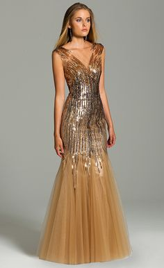 Sequin Mesh Dress #c