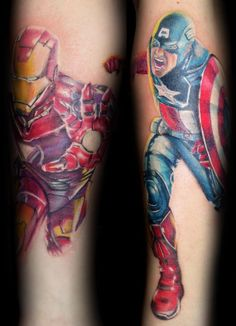Current Avengers sleeve in progress, done my Brian Tipping at Eye Candy Tattoo Studio, Northern Ireland.