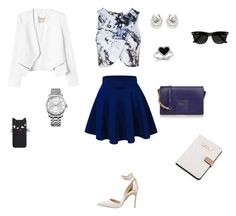 """""""Untitled #22"""" by syamamardanli ❤ liked on Polyvore featuring Topshop, Rebecca Taylor, Manolo Blahnik, Furla, Kevin Jewelers, Calvin Klein and Ray-Ban"""