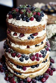 Gorgeous naked cake