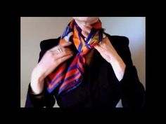 Weave knot - scarf tutorial for square silk scarves