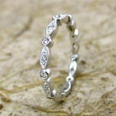 Handmade VintageStyle Diamond Wedding Ring   by AdziasJewelryAtelier