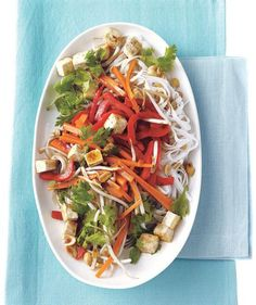 Stir-Fried Rice Noodles With Tofu and Vegetables | Eating an exclusively plant-based diet can be incredibly satisfying and tasty—especially with these hearty recipes.