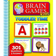 """This is a 7 3/8"""" x 9 1/8"""" spiral-bound book filled with 301 engaging questions and answers. This is developed for children ages 2 and up. Get ready for an exciting new kind of early learning fun for y"""