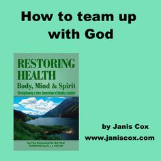 I am reading a wonderful faith-filled book based on Titus called Restoring Health by Ed Hird. Great ideas of how to look to God for your body, mind and spirit.   http://www.janiscox.com/sunday-stillness-how-to-team-up-with-god/