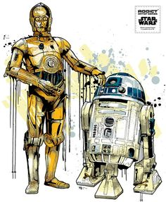 "C-3PO & R2-D2 by Mitchy Bwoy              ""C-3PO & R2-D2""  (one for 4 new designs) from the new Star Wars series almost ready!  Addict x Star Wars x Mitchy Bwoy  Check our Facebook for more details»  Previous series here»"