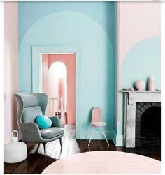 Pastellinterior, Blaue Murmeln, Sessel, Rosa, Blau, , Parfait, Melbourne,  Stil