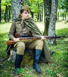 Soviet woman sniper