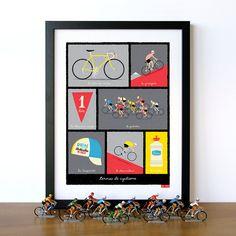 Bike Art Tour de France Classic French Cycling Terms Art by gumo, $32.00
