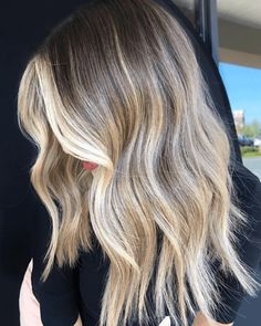 Brown To Blonde Balayage, Ombre Blond, Brown Blonde Hair, Hair Color Balayage, Hair Highlights, Ombre Hair, Blonde Baliage, Bayalage, Purple Hair