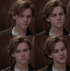 Young Leonardo DiCaprio ouhh that hair!