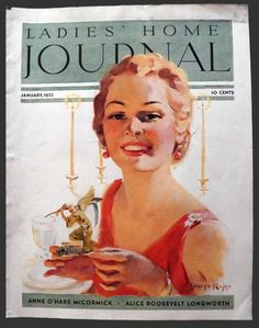 1933 Ladies Home Journal Cover ~ New Year's Lady  Cover by George Rapp