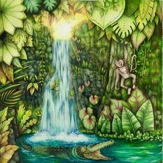 #magicaljungle #johannabasford #prismacolor #triplusfineliner