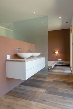 Image 20 of 26 from gallery of A House for the Best Years / Biro Gašperič. Photograph by Virginia Vrecl Modern Wooden House, Bathroom Basin, Biro, Comfort Zone, Decoration, Powder Room, Minimalist, Good Things, Architecture