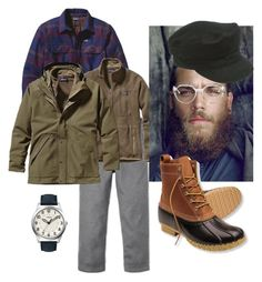 """""""His bean boots"""" by thehopefulpioneer ❤ liked on Polyvore featuring Beams+, Patagonia, American Apparel, L.L.Bean and Timex"""
