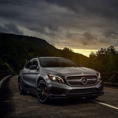 Photo by @andrewlink.  (by: mercedesbenz )  [Mercedes-AMG GLA 45| Fuel consumption combined: 7,5 (l/100 km) | CO2 emission combined: 175 g/km | https://www.mercedes-benz.com/de/mercedes-benz/external/rechtliche-hinweise/ ]
