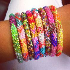 Lily & Laura bracelets handmade in Nepal
