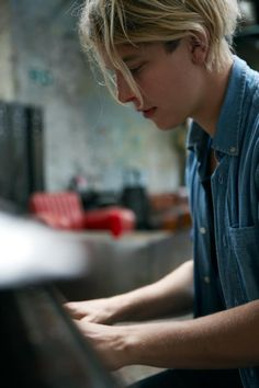 Lengthy hair, powerful charm.. Tom Odell.