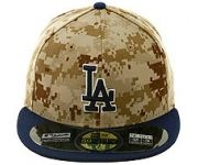 New Era Authentic Collection Los Angeles Dodgers Memorial Day On-Field 2014 Fitted Game Hat