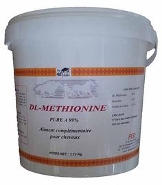 Allez hop une petite nouveauté comme çà vite fait!  De la Dl Méthionine source d'acide aminé pure à 99.9 %  à découvrir sur www.distrihorse33.com  lien direct : http://www.distrihorse33.com/muscle-poids-cheval/682-dl-methionine-pure-acides-amines-cheval.html