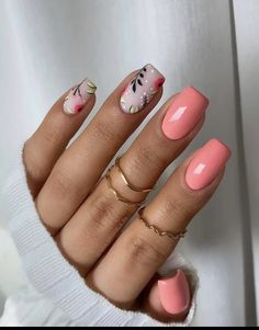 Cute Gel Nails, Chic Nails, Classy Nails, Fancy Nails, Cute Acrylic Nails, Stylish Nails, Pretty Nails, Flower Nails, Flower Design Nails
