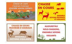 Jamet Communication : Pancartes de chasse personnalisées imprimées sur Akylux, PVC expansé ou dibond