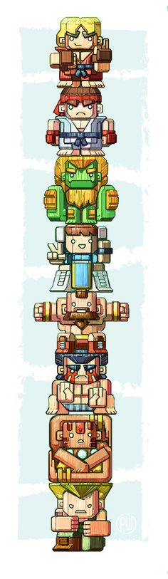 World Warriors Totem by *WheatKing