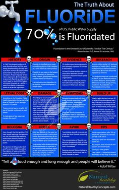 8 True Facts About Fluoride Infographic
