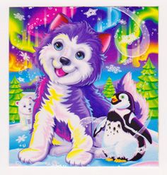 Lisa Frank Tikanni The Husky Puppy Post Card