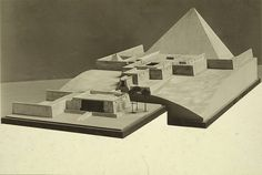 Metropolitan Museum Collection. Model of King Sahure's Pyramid at Abusir - A. D. White Architectural Photographs, Cornell University Library