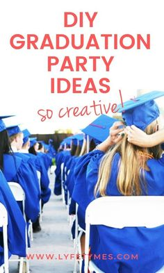 DIY Graduation Party Ideas--FUN graduation party ideas from LYFETYMES. Give your graduate the party they deserve with this easy and fun grad party ideas! #LYFETYMES #graduationparty #graduation #graduationideas #partyplanning #partyplanner #diyparty